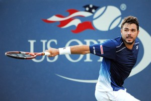 September 5, 2015 - Stan Wawrinka in action against Ruben Bemelmans (not pictured) in a men's singles third-round match during the 2015 US Open at the USTA Billie Jean King National Tennis Center in Flushing, NY. (USTA/Brian Friedman)